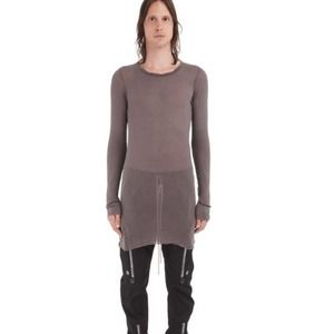 Rick Owens Forever Long Sleeve Rib Shirt